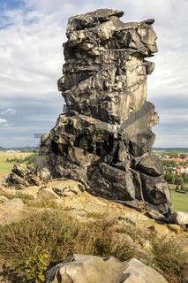 Gesteinsformation der Teufelsmauer bei Weddersleben im Harz, Ostdeutschland