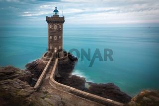 Lighthouse at Atlantic coast, Brittany, France