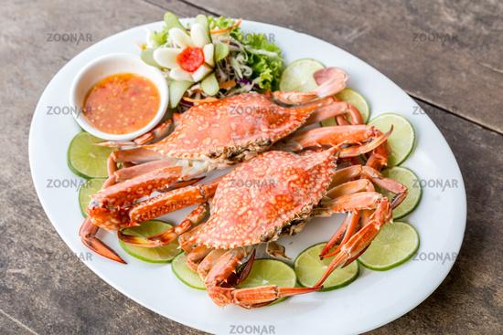 steam crab seafood