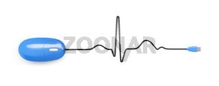 electrocardiogram computer mouse