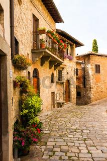 Montefioralle in Chianti , Toskana