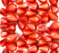 strawberries in a blur