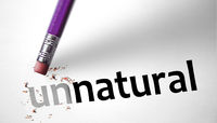 Eraser changing the word Unnatural for Natural