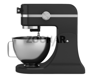 black kitchen mixer isolated on white background