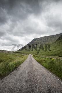 Single Track Road im Glen Etive