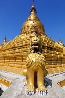 Golden pagoda in Kuthodaw temple in Mandalay
