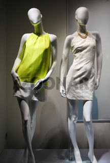 Two female mannequins