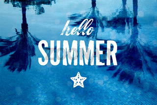 sommer Pool Party Poster
