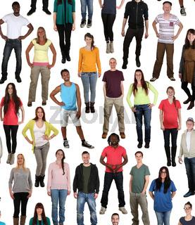 Multikulturell junge People Gruppe viele Leute Hintergrund