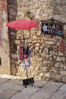 Shop sign in old tovn, Rovinj