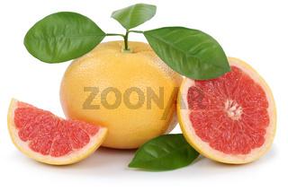 Grapefruit Grapefruits Frucht geschnitten Freisteller freigestellt isoliert