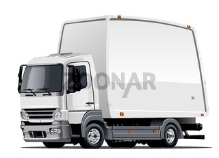 Cartoon delivery or cargo truck
