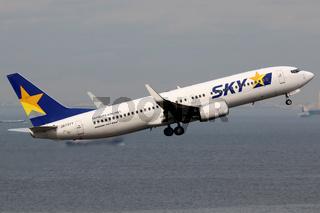 Skymark Airlines Boeing 737-800 Flugzeug Flughafen Tokio Haneda