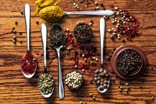 Herbs and spices selection - cooking, healthy eating