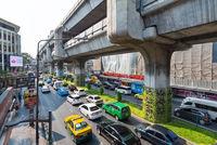 road and sky train bridge, Bangkok