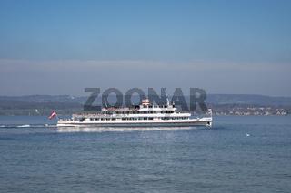 Das Passagierschif 'MS-Austria' auf dem Bodensee