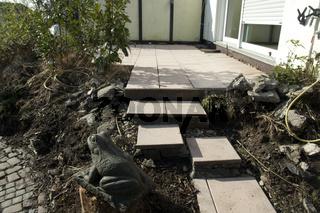 Terrassenbau, vor, Umbau, Urzustand,