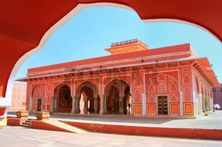 Diwan-i-Khas - Hall of Private Audience in Jaipur City Palace, Rajasthan, India