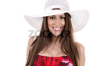summer caucasian woman