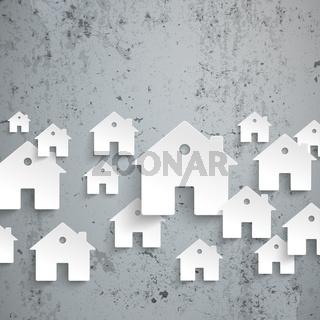 White Paper Houses Concrete