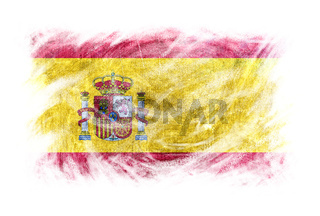 Spain flag blackboard chalk erased isolated