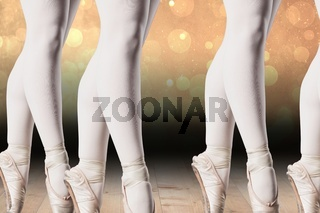 Composite image of ballerinas lags