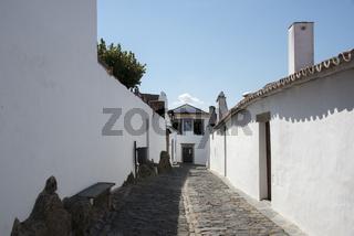 street with white houses monsaraz