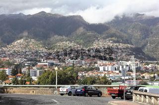 Stadtpanorama von Funchal auf Madeira