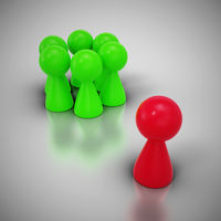 Mobbing Konzept mit Spielfiguren 2