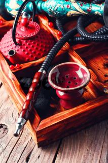 Tea party under the hookah