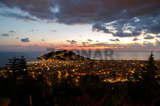 Night View of Alanya Castle