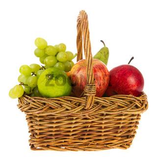 wicker basket fresh fruit