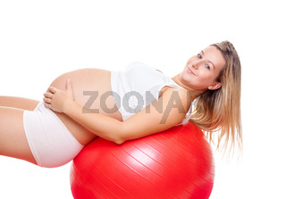 Working out with fitness ball during pregnancy