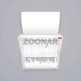 Paper Shredder Machine Vector Illustration