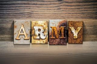 Army Concept Letterpress Theme