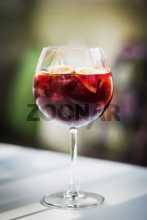 red wine sangria spanish drink glass