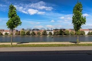 Canal in Copenhagen at a sunny day, Denmark