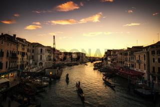 gondolas in grand canal