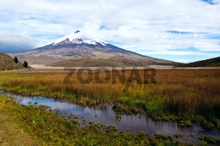 Limpiopungo Lagoon at the foot of the volcano Cotopaxi, Latacunga, Ecuador, 3,800 meters above sea level