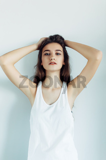 young beautiful girl posing