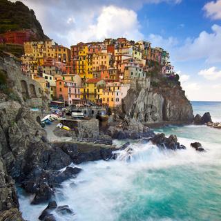 Manarola fisherman village in Cinque Terre, Italy