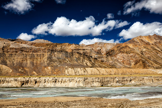Himalayan landscape along Manali-Leh road