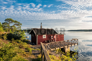 Schärengarten an der schwedischen Küste