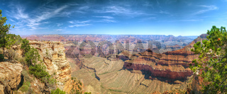 Scenic panoramic overview of the Grand Canyon