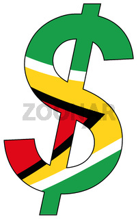 dollar - flag of guyana