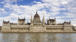 Parlamentsgebäude in Budapest, Ungarn, Europa