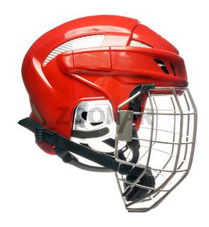 Hockey helmet isolated
