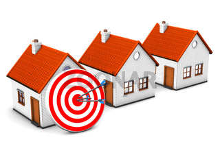 3 Homes Red Target