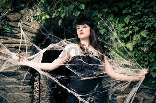 Woman in the cobweb
