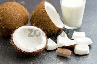 coconut and milk